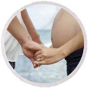 Maternity Love Round Beach Towel