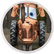 Mater's Tractor Round Beach Towel