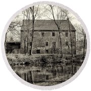 Mather's Grist Mill Round Beach Towel