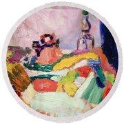 Matisse's Still Life Round Beach Towel