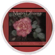 Matri Dhama Rose Design Round Beach Towel