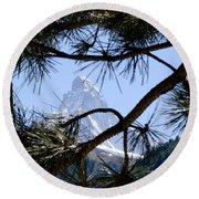 Matterhorn Round Beach Towel