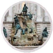Matthias Fountain In Budapest Round Beach Towel