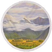 Matukituki Valley Round Beach Towel