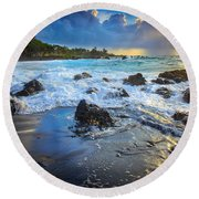 Maui Dawn Round Beach Towel