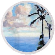 Maui Palms Round Beach Towel