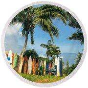 Maui Surfboard Fence - Peahi Round Beach Towel