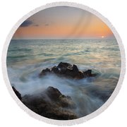 Maui Tidal Swirl Round Beach Towel