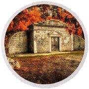 Mausoleum Round Beach Towel by Bob Orsillo