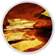Maverick Natural Bridge Round Beach Towel