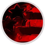 Max Americana In Red Round Beach Towel