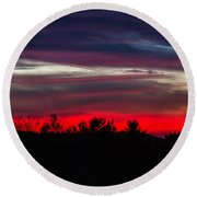 Max Patch Sunset Round Beach Towel