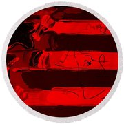 Max Stars And Stripes In Red Round Beach Towel