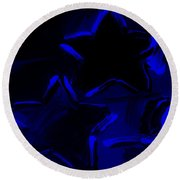 Max Two Stars In Blue Round Beach Towel