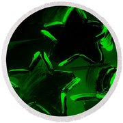 Max Two Stars In Green Round Beach Towel