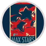Max Two Stars In Hope Round Beach Towel