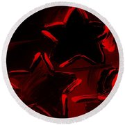 Max Two Stars In Red Round Beach Towel