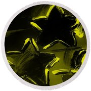 Max Two Stars In Yellow Round Beach Towel
