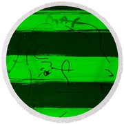 Max Woman In Green Round Beach Towel