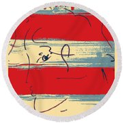 Max Woman In Hope Round Beach Towel