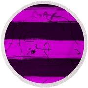 Max Woman In Purple Round Beach Towel