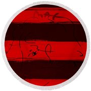 Max Woman In Red Round Beach Towel