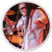 Maxi Priest Round Beach Towel