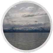 May In Alaska Round Beach Towel