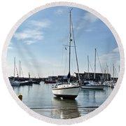 May Morning - Lyme Regis 2 Round Beach Towel