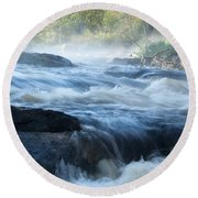 May Morning On The Pawcatuck Round Beach Towel