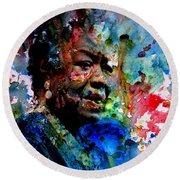 Maya Angelou Paint Splash Round Beach Towel