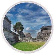 Mayan Memories Round Beach Towel