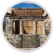 Mayan Palace Round Beach Towel