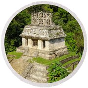 Mayan Temple Round Beach Towel