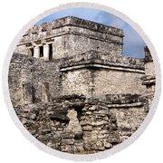 Mayan Tulum Round Beach Towel