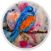 Maybe She's A Bluebird Cropped Round Beach Towel