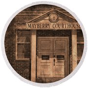 Mayberry Courthouse Round Beach Towel