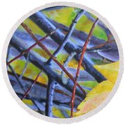 Mayday In September Round Beach Towel