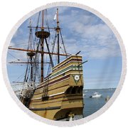 Mayflower II Round Beach Towel