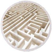 Maze Round Beach Towel