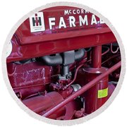 Mc Cormick Farmall Super C Round Beach Towel by Susan Candelario