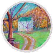 Mc Donalds Mill Round Beach Towel