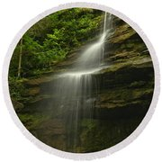 Mcconnells Mill Alpha Falls Round Beach Towel