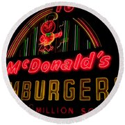 Mcdonalds Sign Round Beach Towel