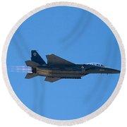 Mcdonnell Douglas F 15e Strike Eagle Round Beach Towel