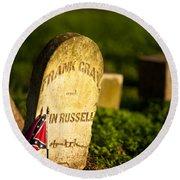 Mcgavock Confederate Cemetery Round Beach Towel