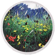 Meadow Glory Round Beach Towel