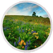 Meadow Gold Round Beach Towel