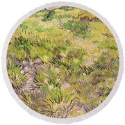 Meadow With Butterflies Round Beach Towel
