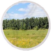 Meadowland Round Beach Towel